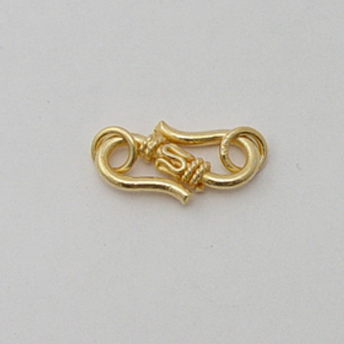 Vermeil, 9x20mm Decorative S-Hook Clasp