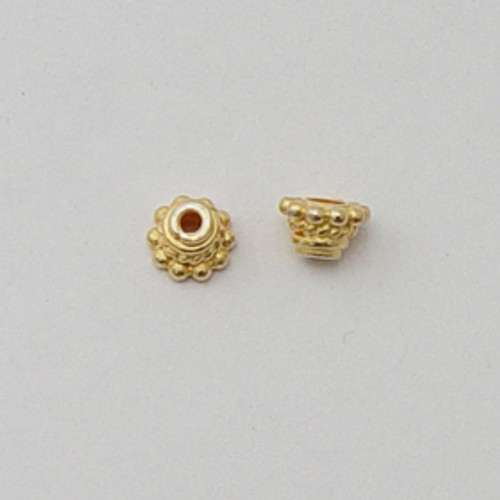 Vermeil, 4x6mm Decorative Bead Cap