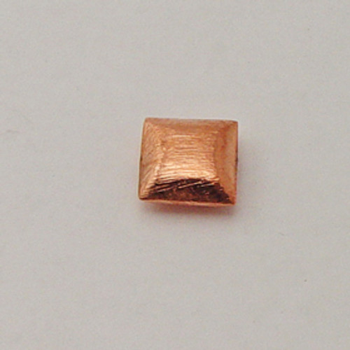 Copper, 14mm Brushed Bevel Square Bead