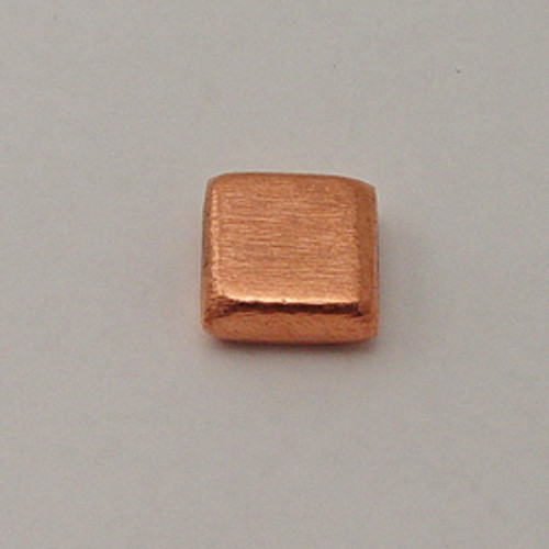Copper, 18mm Brushed Square Bead