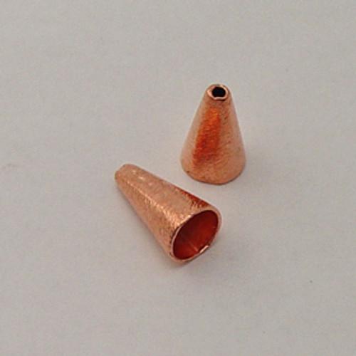 Copper, 10x18mm Brushed Cone