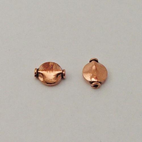 Copper, 10x12mm Ridged Coin Bead