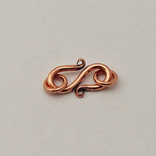 Copper, 11x17mm S-Hook Clasp
