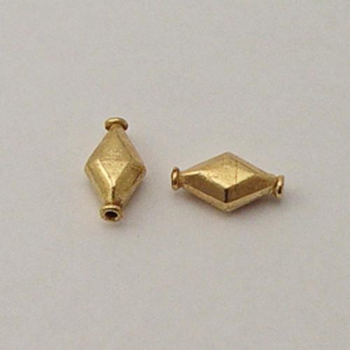 Brass, 6x10x17mm Puff Diamond Bead