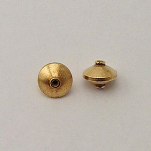 Brass, 9x12mm Saucer Bead