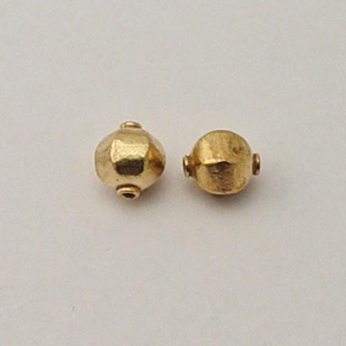 Brass, 10x12mm Puff Hexagon Bead