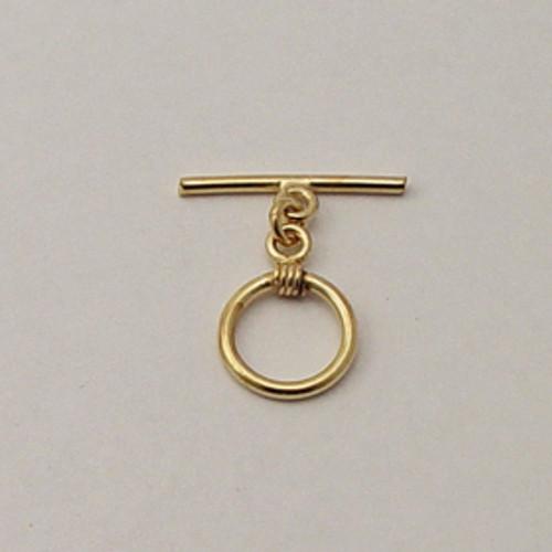 Brass, 14mm Round Toggle Clasp