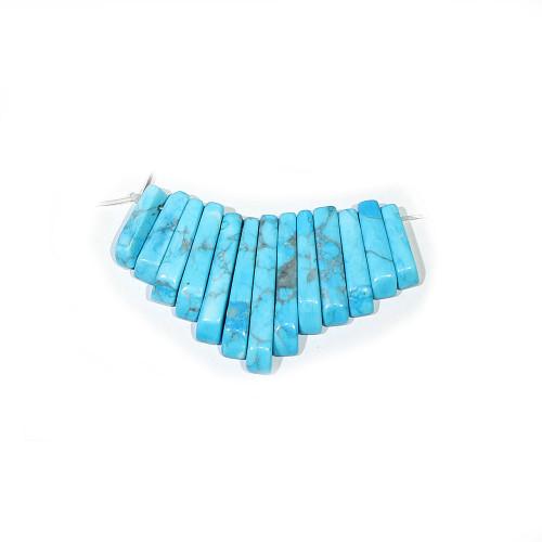 Turquoise Howlite Mini Fans