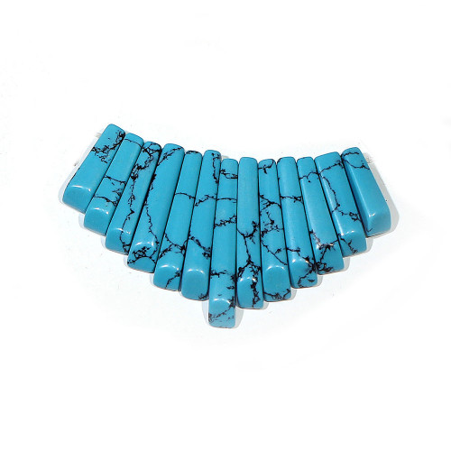 Dark Turquoise (imitation) Mini Fans
