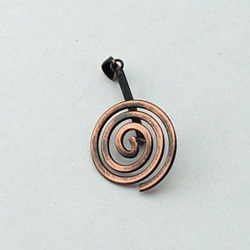 Copper Spiral Bail