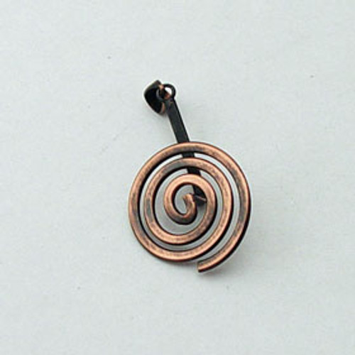 Copper Spiral Bail