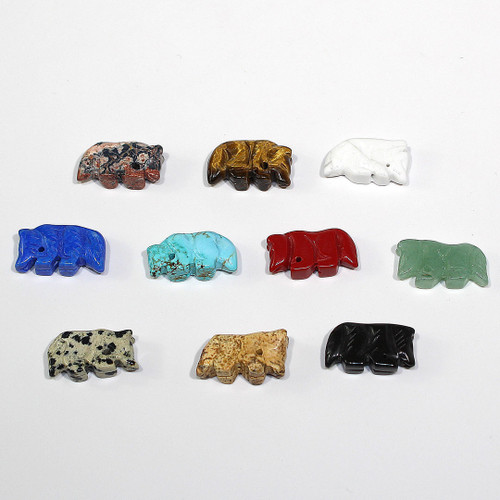 Wolf Fetish Bead 30ct Mixed Bag