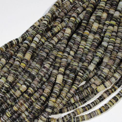 Black Lip Shell heishi (Dark) 4-5mm | $3.80 Wholesale