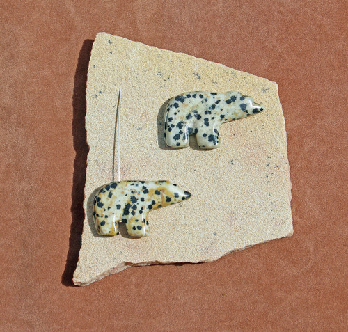 Dalmatine Jasper Walking Bear Pendant
