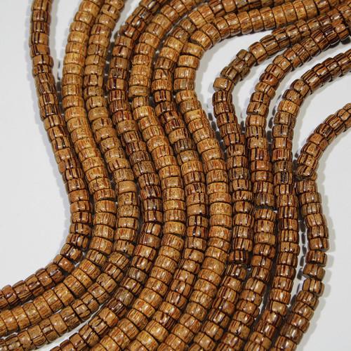 Palmwood Beads   8 x 4 mm