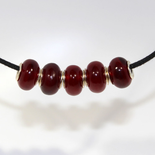 Red Buffalo Horn | Large Hole Bead