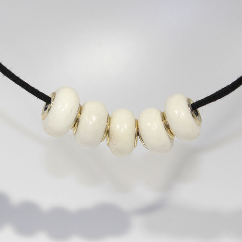 White Buffalo Horn | Large Hole Bead