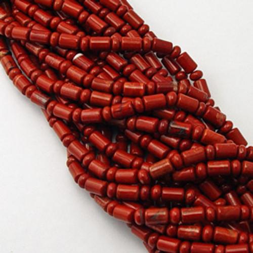 Red Jasper Barrel Rondelle Beads