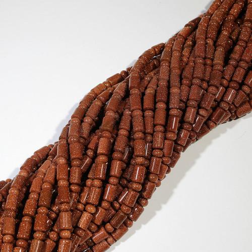 Goldstone Barrel/Rondelle Beads