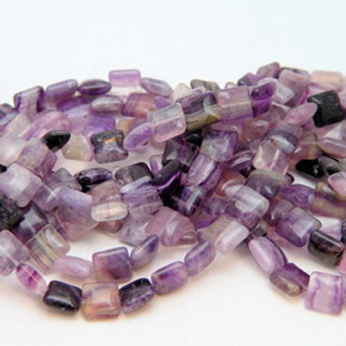 Fluorite Square beads | 10mm
