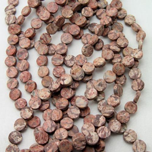 Red Leopard Skin Jasper | 10mm coins