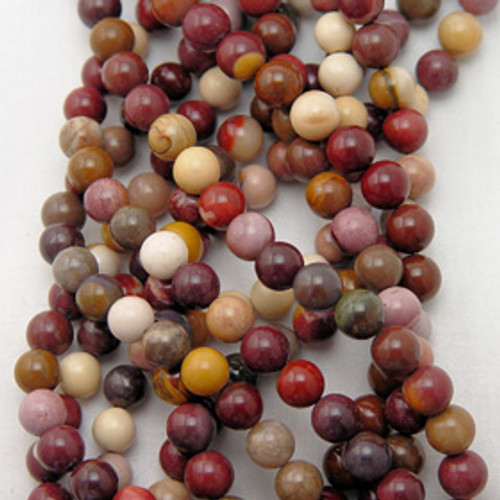 Mookaite Rounds | 4mm | 6mm | 8mm | 10mm