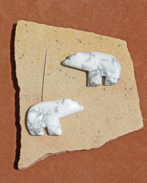 Howlite Walking Bear Pendant