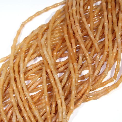 Red Aventurine Bamboo Beads