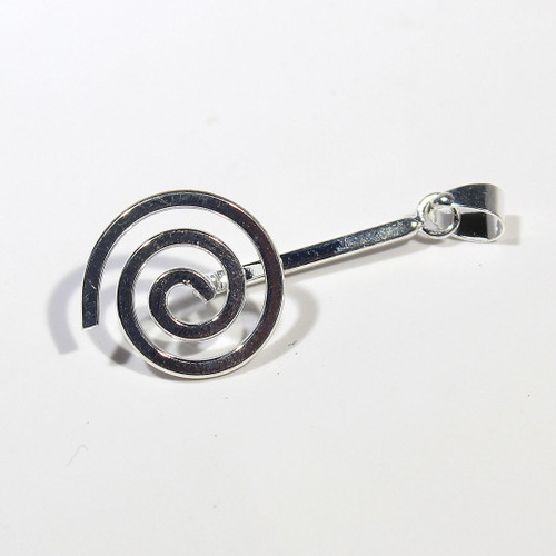 Small Silver Plate Spiral Bails