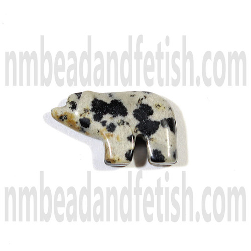 Dalmatian Jasper Walking Bear Beads