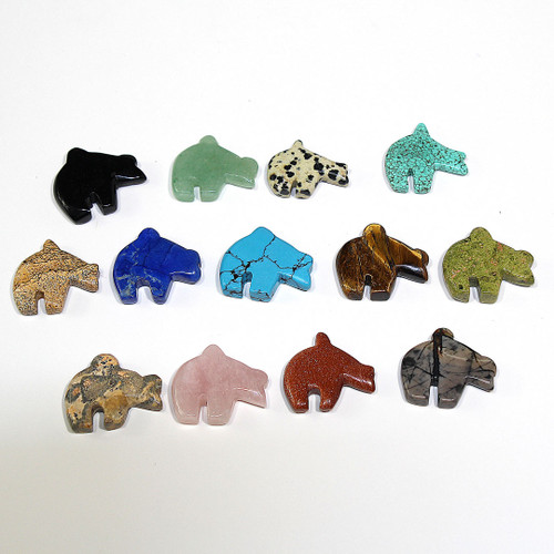 Zuni Bear Pendants | 35 CT Mixed Bag