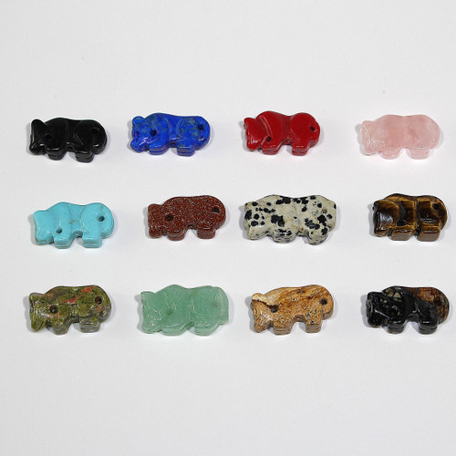 Mountain Lion Fetish Bead 30ct Mixed Bag