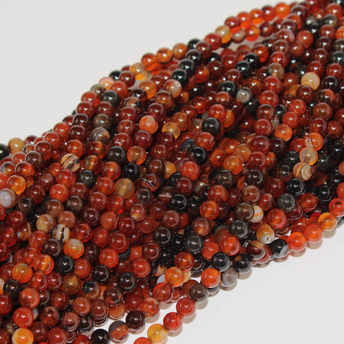 Botswanna Agate | Rounds 6mm | Wholesale $3.50
