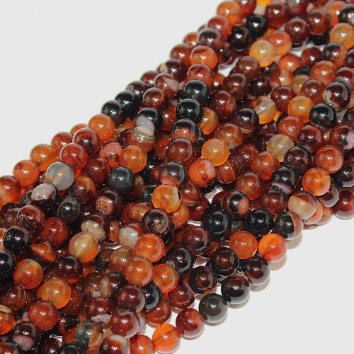 Botswanna Agate | Rounds 8mm | Wholesale $4.95