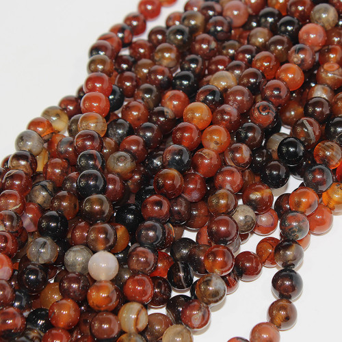 Botswanna Agate | Rounds 10mm | Wholesale $6.35