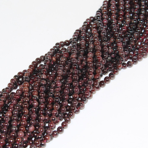 Garnet | Round 4mm| Wholesale $3.10