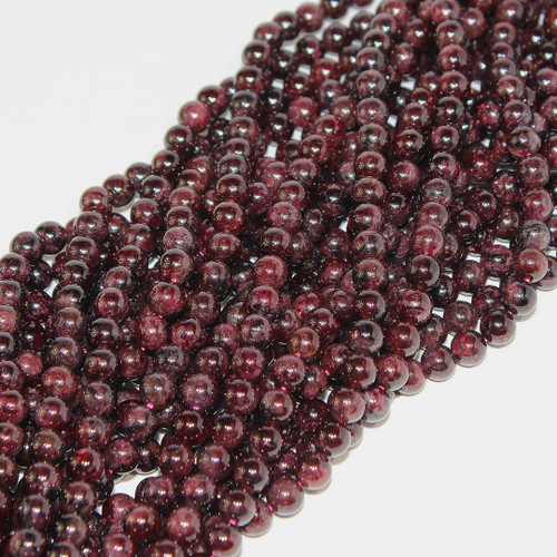 Garnet | Round 6mm| Wholesale $4.75