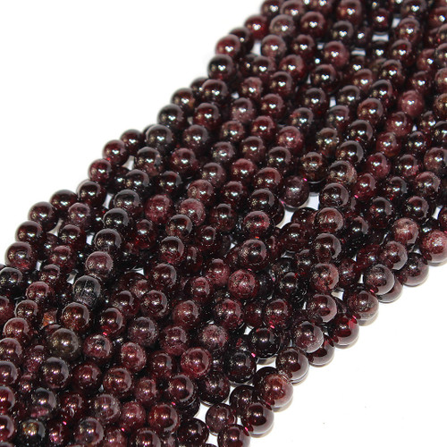 Garnet | Round 8mm | Wholesale $7.45