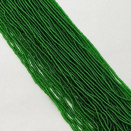 Medium Green #11 seed bead | Transparent