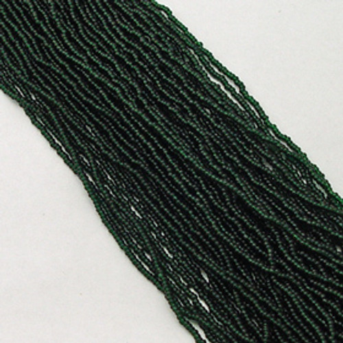 Dark Green #11 seed bead | Transparent