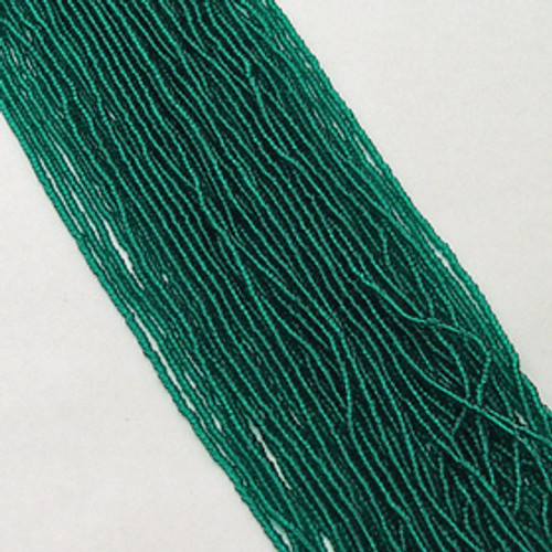 Teal Green #11 seed bead | Transparent