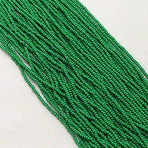 Medium Green #11 seed bead | Opaque
