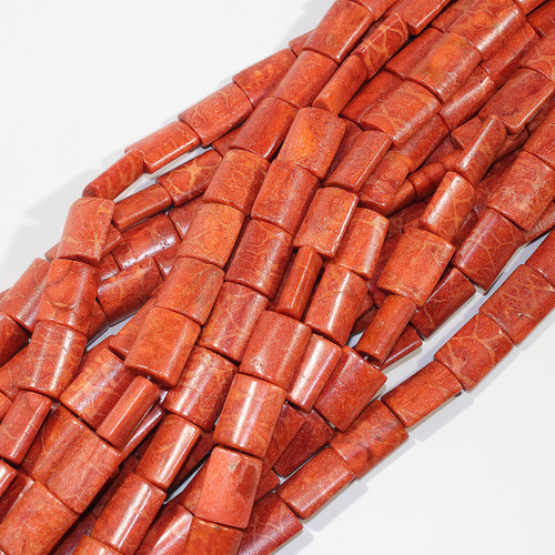 Red Sponge Coral Rectangle Pillows 16x20mm
