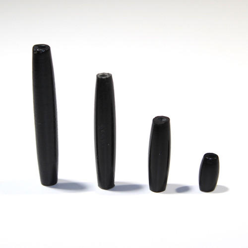 Black Hairpipe Beads   .5 inch   100 count