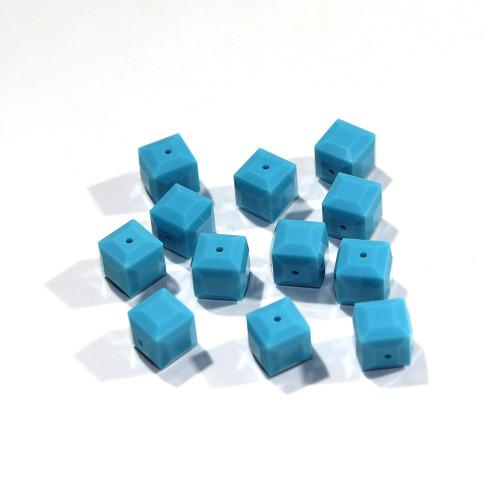 Swarovski Cube Bead | 8mm | Turquoise