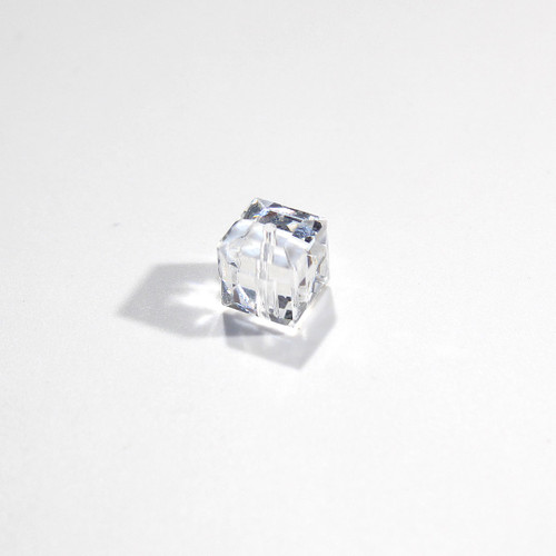 Swarovski Cube Bead | 8mm | Crystal