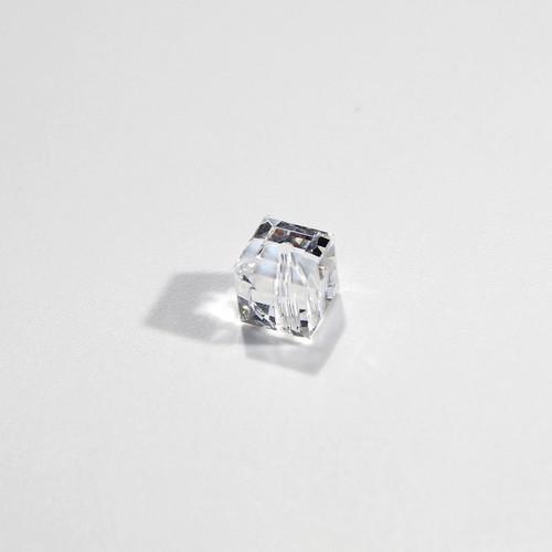 Swarovski Cube Bead | 6mm | Crystal