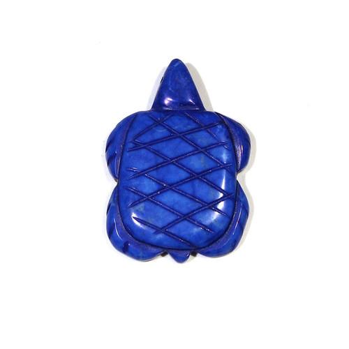 Lapis Howlite Turtle Fetish Pendant