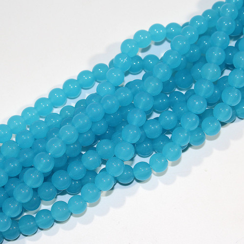 Turquoise Candy Jade (Glass) | 8mm