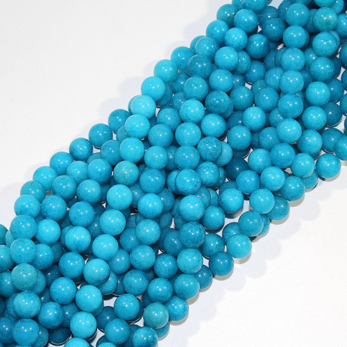 Turquoise Candy Jade (Dyed) | 10mm